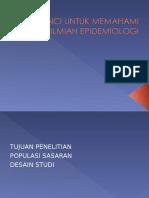 Kunci Untuk Memahami Artikel Ilmiah Epidemiologi