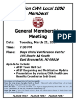 General Membership Meeting Flyer