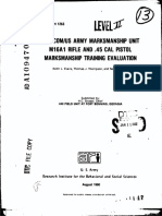 XFORSCOM US Army Marksmanship Unit M16A1 Rifle and .45 Cal Pistol Marksmanship Training Evaluation