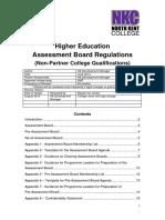 HE Assessment Board Regulations - North Kent College