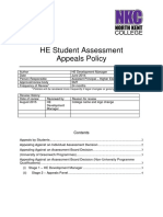 HE Student Assessment Appeals Policy 2014 - North Kent College