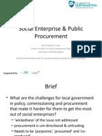 Esrc Policy Forum Procurement
