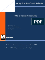 Office of Inspector General Presentation