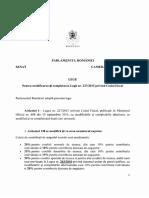 Proiect de Lege de Modificare a Codului Fiscal
