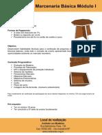 Folder - Marcenaria Básica Modulo I - 21-01 a 04-02- Sabados