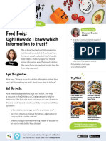 Nutrition Month Fact Sheets