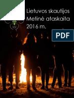 Lietuvos skautijos metinė ataskaita 2016 m.