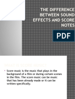 The Difference Between Sound Effects and Score Notes