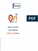Process of Qfi BSNL WIFI