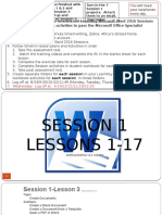 gmetrix learnkey word 2016 session 1-5 lesson plans