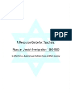 Russian Jewish Immigration 1880-1920
