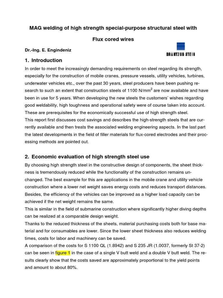 Drahtzug welding of high strength steels.pdf | Welding | Wire