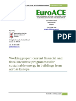 September 2009 EuroACE Working Paper Financial and Fiscal Instruments for Energy Efficiency in Buildings