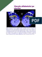 Alfabet Si Cifre La Fluturi