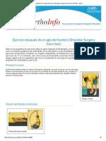 Ejercicio Después de Cirugía Del Hombro (Shoulder Surgery Exercises)-OrthoInfo - AAOS