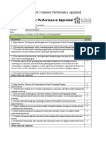 School Counselor Performance Appraisal