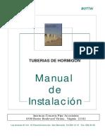 Manual de Instalacion de Tuberias de Hormigon
