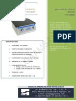 Ficha Técnica Agitador de Placas Digital Dsr 2800d