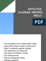 Effective Writing Skills