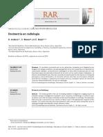 Dosimetría en Radiología (2014)