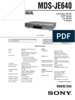 Sony MDS-JE640 Service Manual