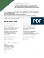 Subjuntivo - Musicas e Textos