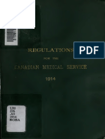 (1915) Regulations for the Canadian Medical Service