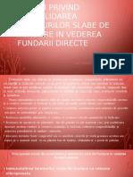 SOLUTII Privind Consolidarea Terenurilor Slabe de Fundare in Vederea Fundarii Directe