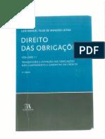 Obrigações - Menezes Leitão - Vol. II
