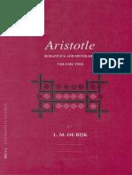 PhA 091-2 - Rijk - Aristotle Semantics and Ontology, Volume 2_The Metaphysics. Semantics in Aristotle's Strategy of Argument.pdf