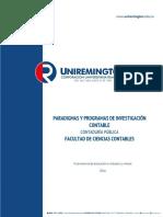 Paradigmas y Programas de Investigacion Contable 2016 Ok