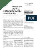 Articulo cientifico sobre Efectos de los Aines sobre el MDO