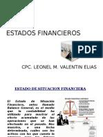 SEMANA 16° LOS ESTADOS FINANCIEROS