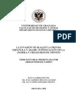 Ahmad Bassam Yaseen_La Invasión de Iraq en La Prensa Española y Arabe-Justificación de La Guerra y Creadores de Opinión (Tesis Doctoral)