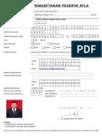 Form Pendaftaran Atls