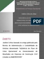 Análise critica - apresentação