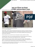 Detienen dominicanos en el Bronx con drogas valoradas en US$4.5MM; confiscan dinero y joyas