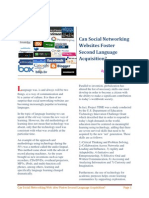 Can Social Networking Websites Foster Second Lanuage Acquisition, By Charo Uceda
