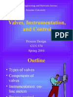 Valves Instumentation and Control