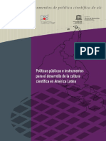 POLÌTICAS PÙBLICAS E INSTRUMENTOS PARA EL DESARROLLO DE LA CULTURA CIENTÌFICA EN AMÈRICA LATINA (UNESCO) - Ernesto Fernàndez, Alessandro Bello, Luisa Massarani - (2016).pdf