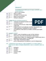 Teste de Direito Administrativo 07