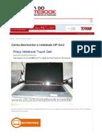 Como Desmontar o Notebook HP G42