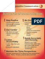 Standards of Responsible Communication Poster