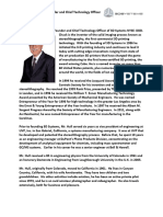 3D Systems Charles W Hull Executive Bio(1)