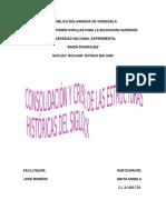 Consolidación y Crisis de Las Estructuras Históricas Del Siglo Xx