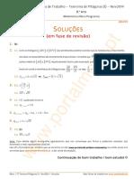 8Ano FT TeoremaPitagoras I Nov2014 Sol Prov