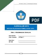 2. RPP Kls 3 Tema 2 Perkembangan Teknologi