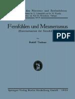 (Grenzfragen Des Nerven- Und Seelenlebens) Rudolf Tischner (Auth.)-Fernfühlen Und Mesmerismus_ Exteriorisation Der Sensibilität-J.F. Bergmann-Verlag München (1925)