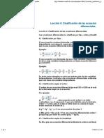 1Clasificacio n de Las Ecuaciones Diferenciales