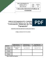 Proc. Colocacion Material de Relleno de Transicion